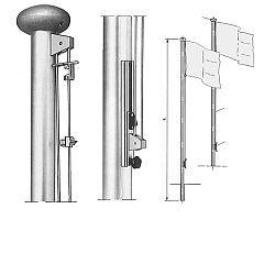 masten f r fahnen zum hissen und mit ohne ausleger. Black Bedroom Furniture Sets. Home Design Ideas